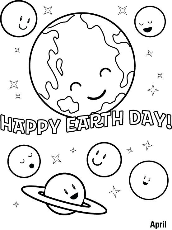 Happy Earth Day Coloring Sheet In 2020 Earth Day Coloring Pages Earth Day Worksheets Earth Day Drawing