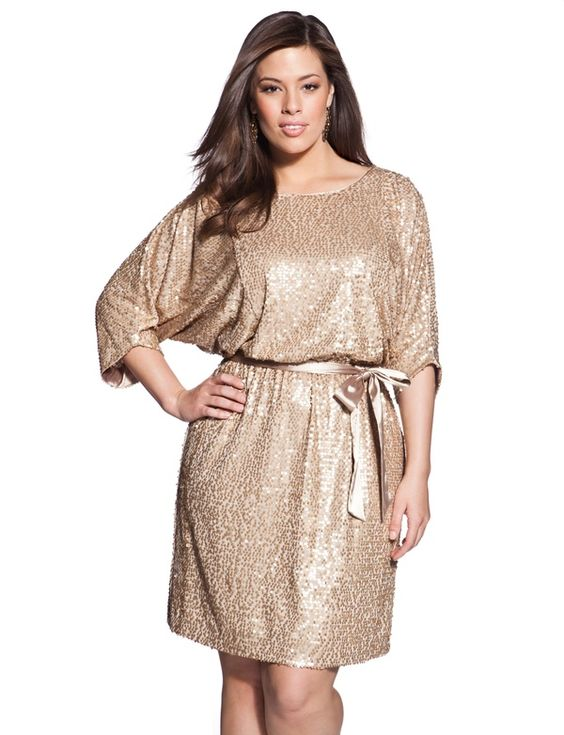 Belted Squin Dress - Womens Dresses  Plus Size Dresses - eloquii by The Limited