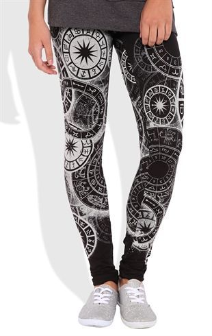 Deb Shops Astrology Print #Leggings $15.00