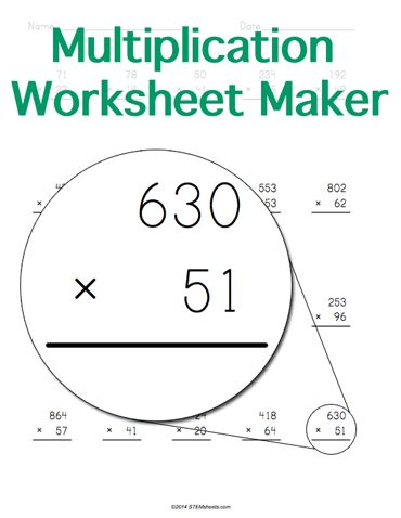math worksheet : customizable and printable multiplication worksheet maker  math  : Addition Worksheet Maker