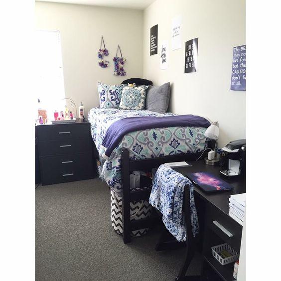 West Chester University dorm room 20152016 Blue, white  ~ 140040_Dorm Room Ideas Grey