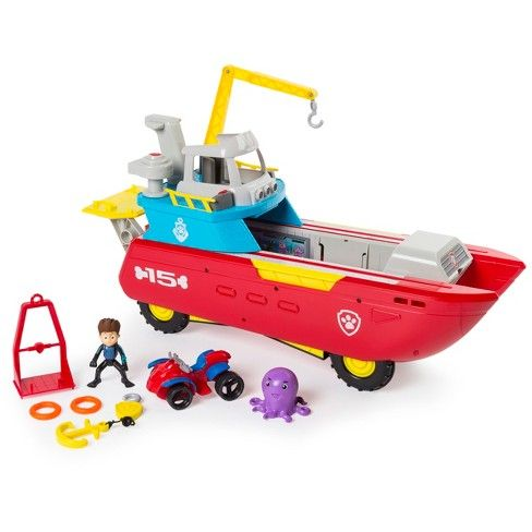 Quatang Gallery- Paw Patrol Sea Patrol Sea Patroller Transforming Vehicle With Lights And Sounds Paw Patrol Toys Best Christmas Toys Paw Patrol Nickelodeon