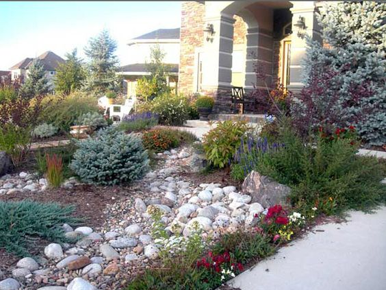 Texas xeriscape landscaping front yard rocky landscape for Mountain landscape design