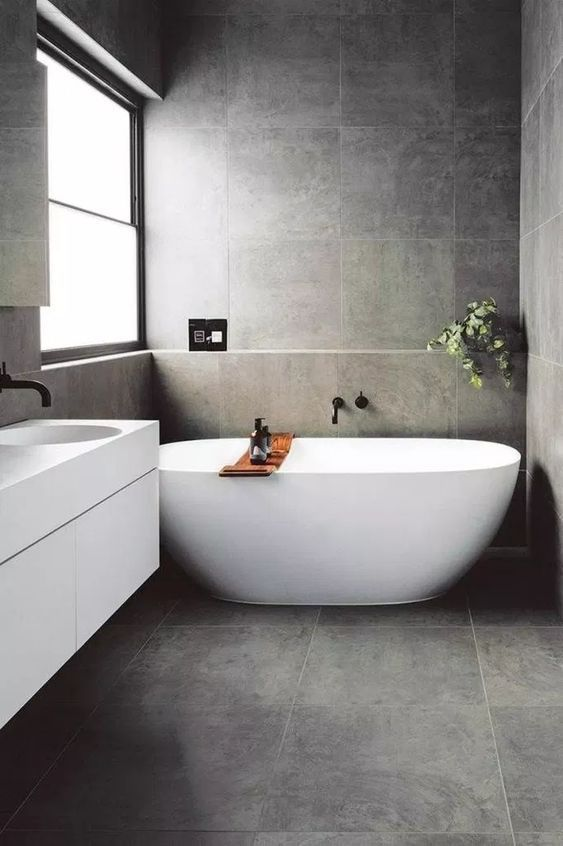 25 Inspiring Elegant Dark Bathroom Ideas To Steal Decortrendy Bathroom Tile Designs Trendy Bathroom Shower Niche