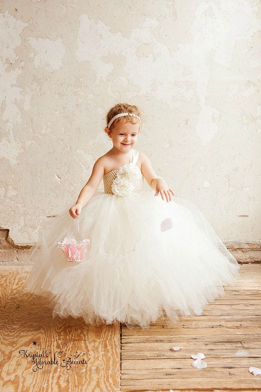 explore ivory flower girl dresses