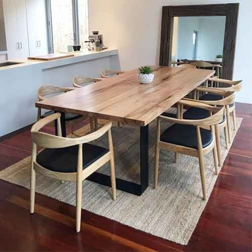 36 Inspiring Contemporary Dining Room Design Timber Dining Table