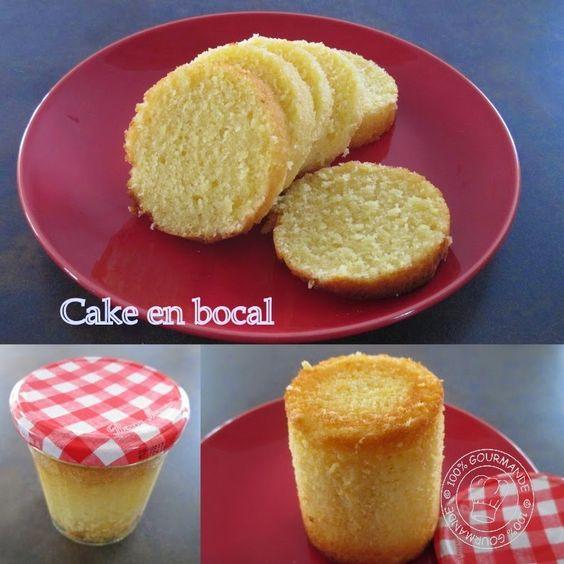 100% Gourmande : Cake en bocal