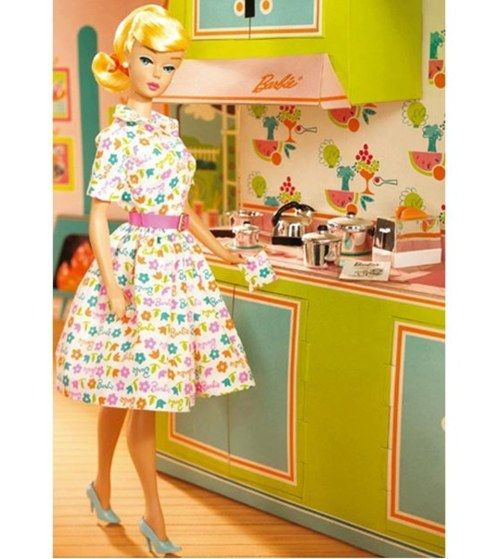 Barbie in the kitchen…