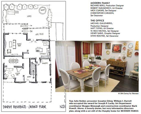 Modern family dunphy floorplan house plans pinterest for Modern family house floor plan