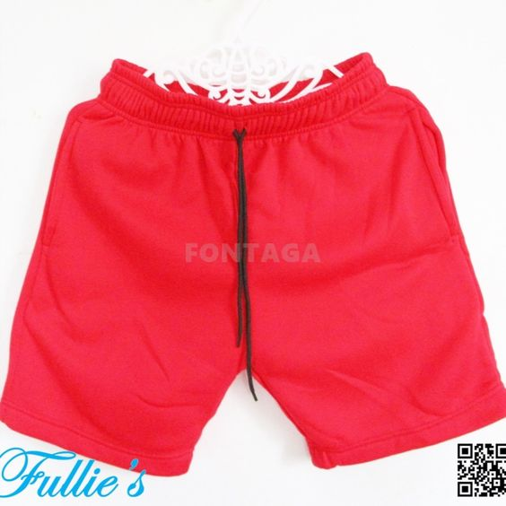 Unisex Sports Jogger Sweat Shorts Red 4