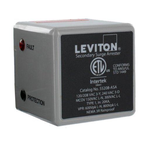 Leviton 55208 Asa 3 Phase 120 208 V Wye Or 3 Phase 240 V Delta Type 1 Surge Arrester Leviton Led Indicator Surge Protectors