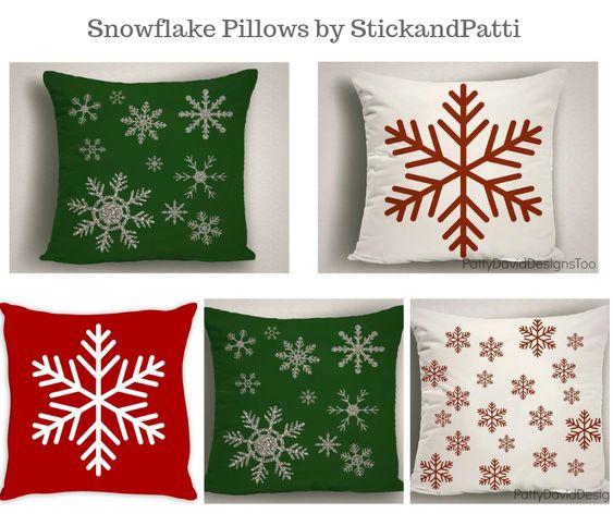 Snowflake Pillows by StickandPatti