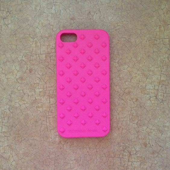 iPhone 5/5s case I bought this case from Victoria's Secret, it's not a hard case. It has studs on the back, all rubber. Hot pink, very cute! Victoria's Secret Accessories Phone Cases