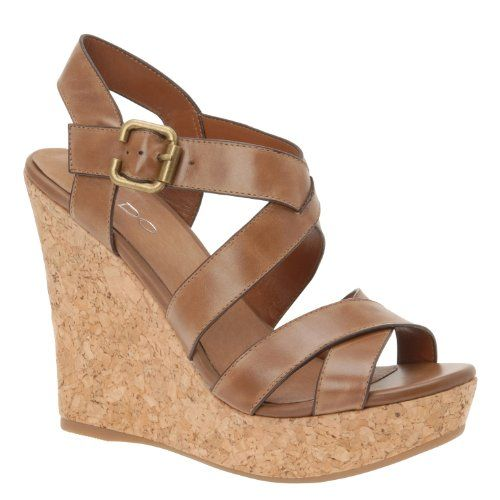 $70.00 ALDO Regas - Women Wedge Sandals - Cognac - 5 - - Heel ...