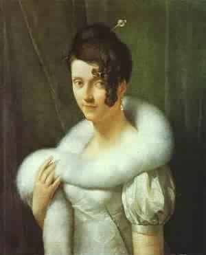 Portrait Of A Woman 1810 Painting by Francois Pascal Simon Gerard ...: