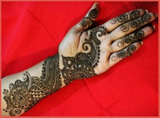 Mehndi Hairstyles Step By Step : Arabic mehandi designs for hands step by projects