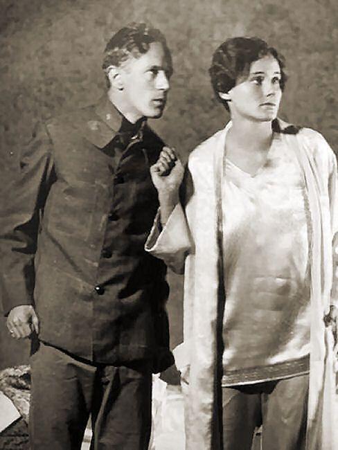 """With Frieda Inescort in """"Escape"""", 1928"""