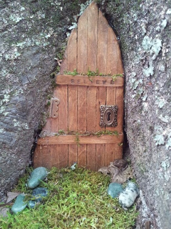 Kristen womack wrote my first fairy door made from pine for Wooden fairy doors