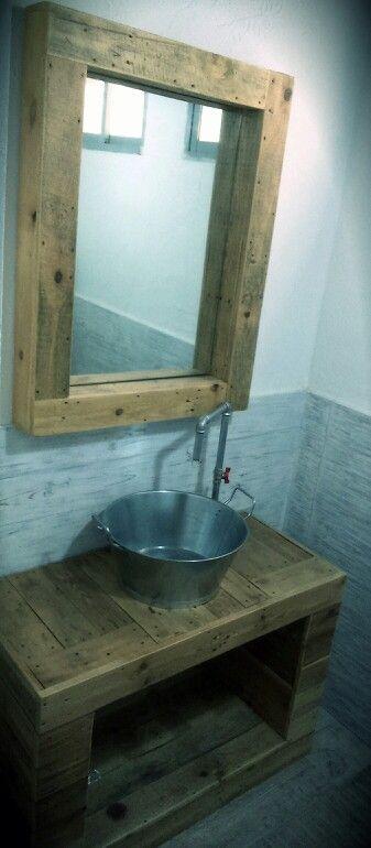 Mueble ba o rustico muebles con palets dise o for Banos diseno rustico