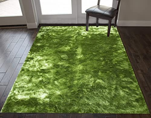 Buy Apple Green Color 5 X7 Feet Size Large Solid Plush Decorative