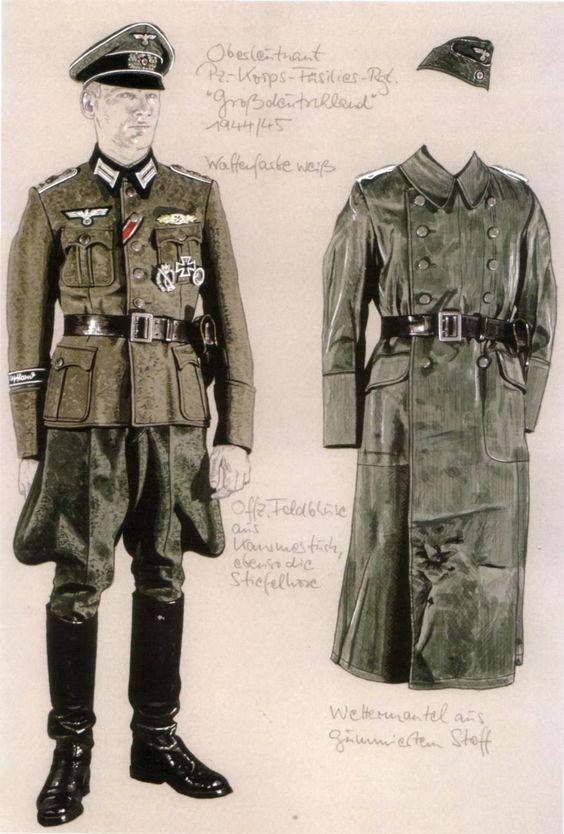 wehrmacht oberleutnant der panzer korps fusiliers