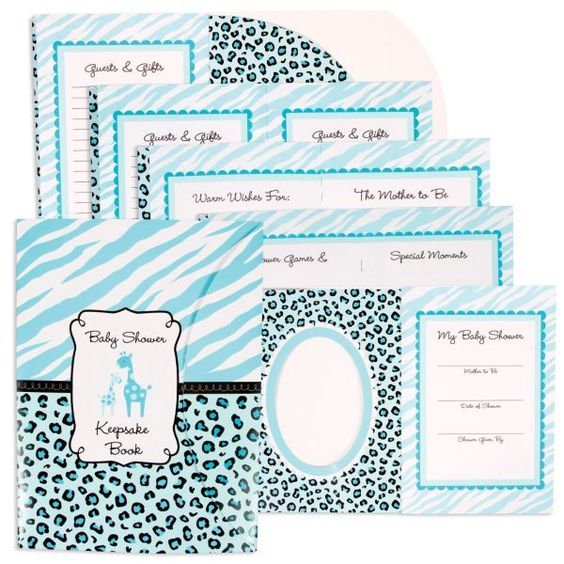 blue safari baby shower keepsake book 8in baby shower keepsake book