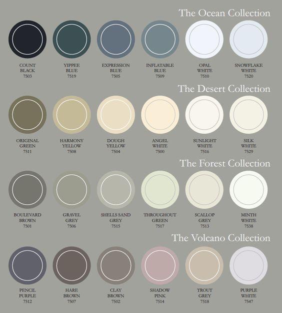 Het kleurenpalet van The Color Collection bestaat uit vier gebalanceerde kleurcollecties gelinkt aan de kracht van de natuur. De kleuren van de verschillende collecties werken uitstekend samen!