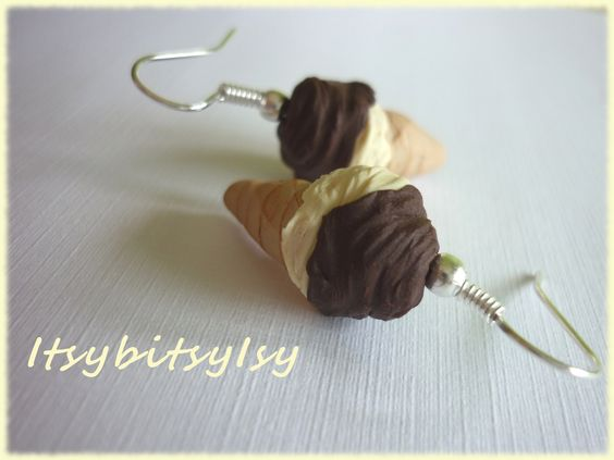 Ice cone earrings! https://www.etsy.com/listing/154524964/ice-cone-earrings?ref=shop_home_active