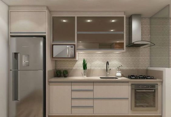 Cocinas Pequenas Alargadas Para Casas De Infonavit En 2020