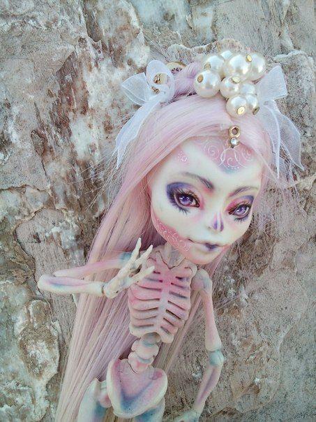 Monster High // Pastel Skelita OOAK #custom #mh