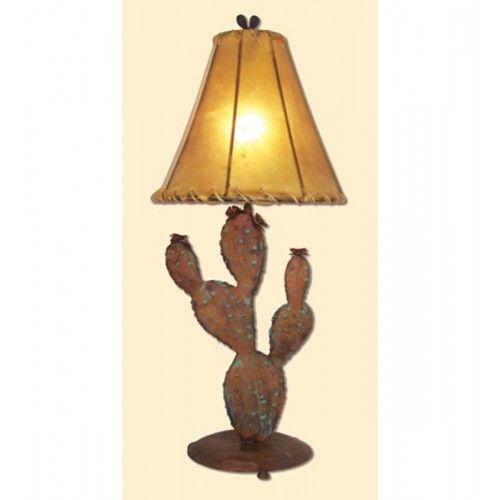 Desert Prickly Pear Cactus Metal Table Lamp Shade Small Lamp Shades Table Lamp Shades Rustic Lamp Shades