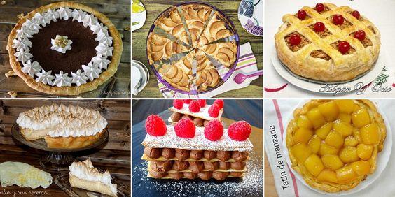 JULIA Y SUS RECETAS: 6 tartas con bases de hojaldre para merendar