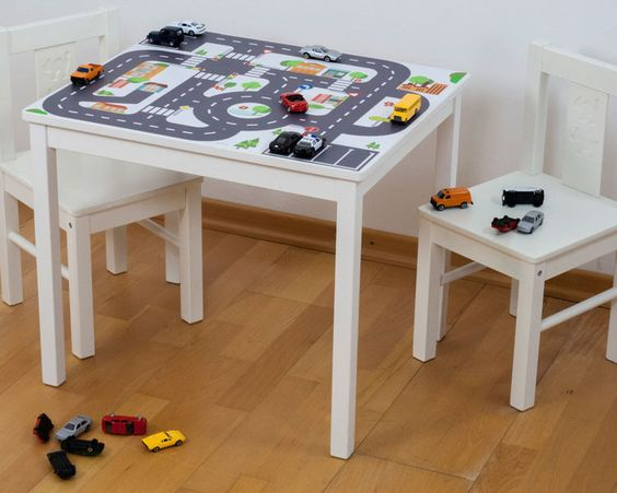 """Kindertisch """"Kleine Stadt"""" für IKEA KRITTER von Limmaland - Kleben. Spielen. Leben. auf DaWanda.com"""