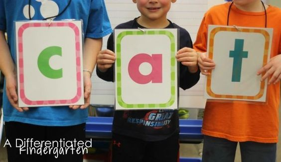 Teacher Tip:  Use these free placards to get your students up and moving during 'making words.'