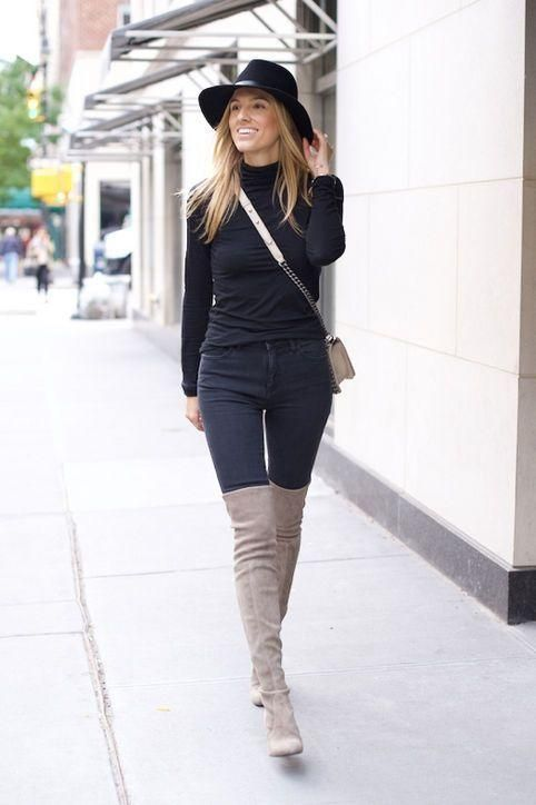 15 Ways to Wear Thigh-High Boots This Winter | High boots How to