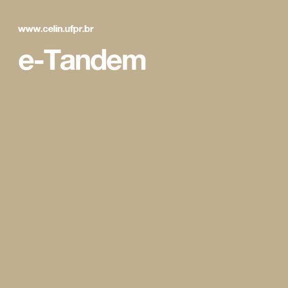 e-Tandem