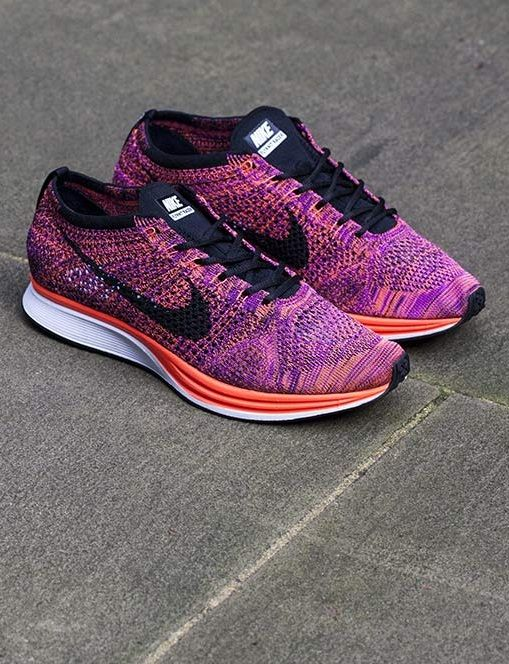 sports shoes 14388 9eab6 nike flyknit racer mens purple