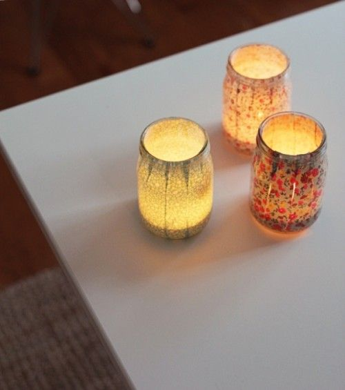 DIY Jar Relaxing Candle Holders | Shelterness
