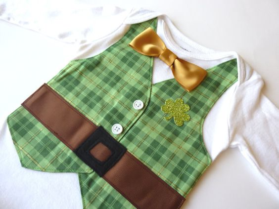 St Patrick's Day Leprechaun Onesie Vest with by sarasweetandsmall, $26.00
