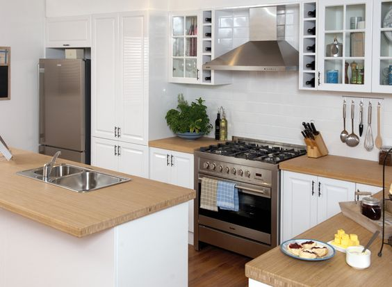 Kitchen gallery design your kitchen and kitchens on pinterest for Bunnings in home kitchen design