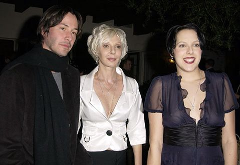 keanu reeve his mother and his sister keanu reeve