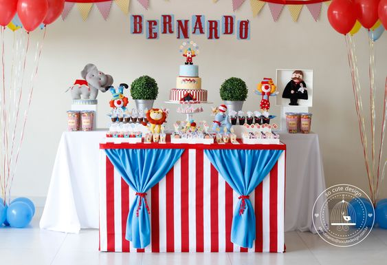 Festa de 1 aninho do Bernardo no tema circo! #party #festa #circo #festacirco