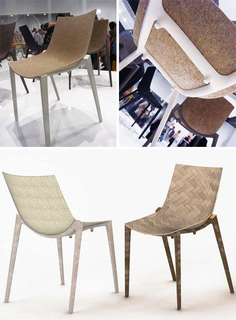 THE FUTURE: Biodegradable plastic, a postmodern alchemy! Liquid wood chairs built from bamboo, flax, hemp, jute, rattan and fish oil.