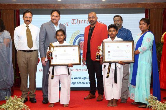 Super Kids Sensai Srivishakan and Sensei Sriharini