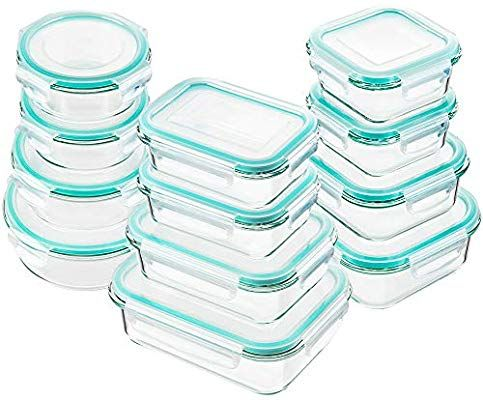 Amazon Com Bayco Glass Food Storage Containers With Lids 24 Piece Glass Meal Prep Containers Airtight Glass Bento Boxes Bpa Glass Food Storage Glass Storage Containers Food Storage Containers