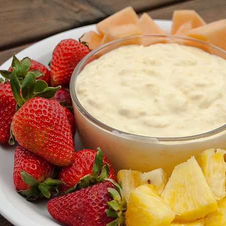 Pina Colada Fruit Dip! >> I could eat this whole thing!