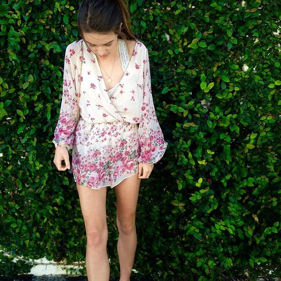 """I ❤️ + wear rompers way too much and @threads has found my weakness.... was super nice and breezy for the LA heat !"""