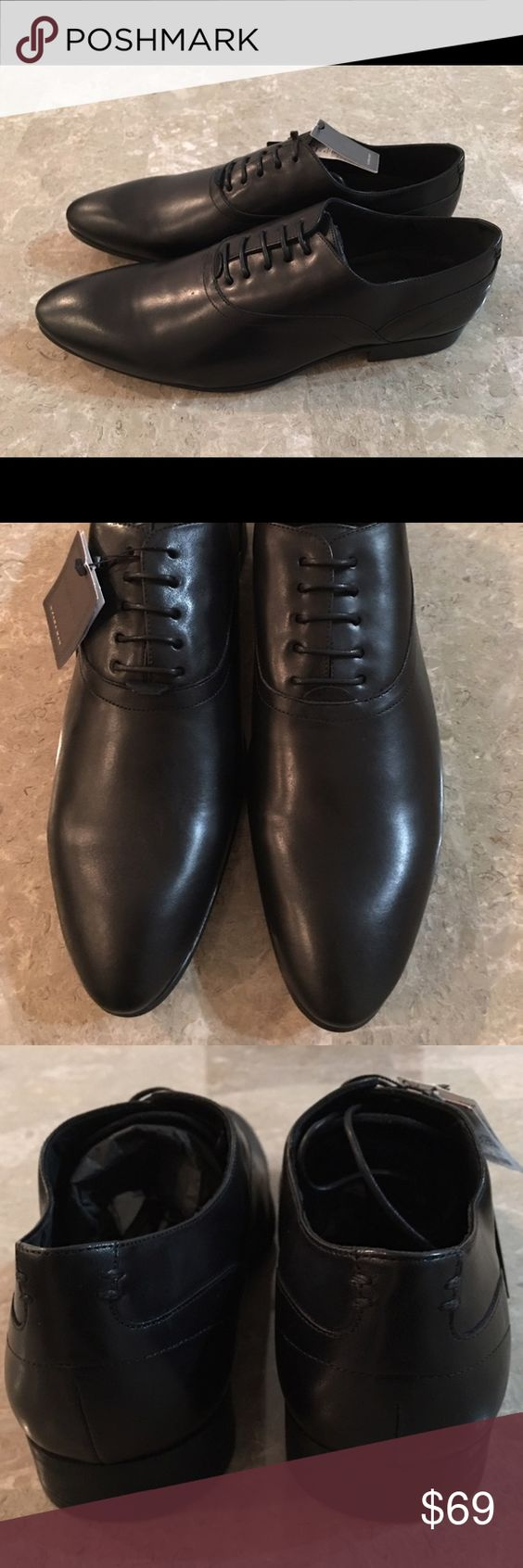 New Men's Dress Shoes by Zara Man Brand New With Tags Attached!!  Retail @ $99.90.  All Leather!! Zara Shoes Oxfords & Derbys