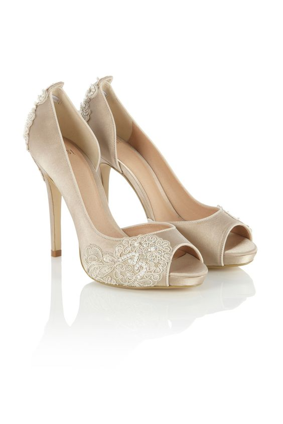 Coast beige lace heels £110. These would be cute with a little ...
