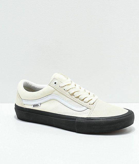 Vans Old Skool Pro Classic White Black Skate Shoes Solo A Pedido Usa Vans Vans Old Skool Skate Shoes